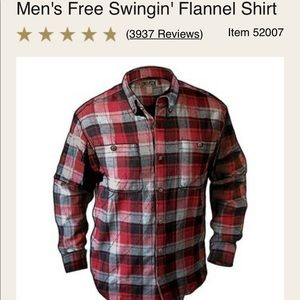d38cc85b Duluth Trading Co Shirts - Duluth Trading Men's Free Swingin Flannel / Large